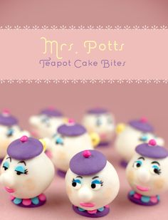 If you have a huge supply of patience, try making these beautiful Mrs. Potts cake bites. | 28 Insanely Delicious Recipes Inspired By Disney