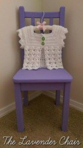 Textured Fan Baby Cardigan by Dorianna Rivelli of The Lavender Chair