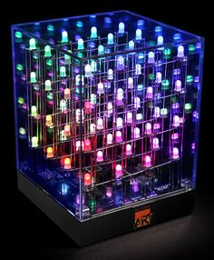 this is really cool... animated LED art cube light