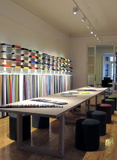 Kvadrat showroom by Sisse Thorsen, via Behance