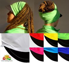 """MADRAS VISOR"" Tube cap for dreadlocks and natural hair. Stretchy fabric hat. Fashion & Hairstyle ideas.... Visière tube pour dreadlocks et cheveux naturels. Tissu extensible. Idée coiffure....."