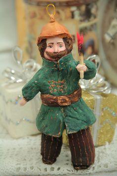 Бравый усатый Пожарный. Ватная игрушка - купить или заказать в интернет-магазине на Ярмарке Мастеров - FQJUXRU. Кемерово | Пожарный ( 1-ой мировой войны)  В…