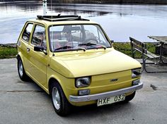 Fiat 126 yellow - Mum's car during the Fiat 128, Mk1, Fiat Models, Design Cars, Fiat Abarth, Steyr, Old Cars, Cars And Motorcycles, Mercedes Benz