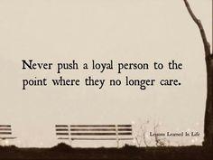 a loyal person