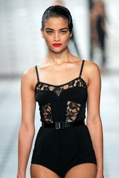 Spring 2013-Knit Lace Bodysuit