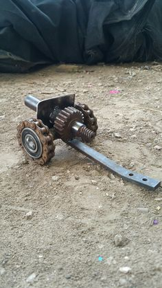 Made from junk lawnmower parts...