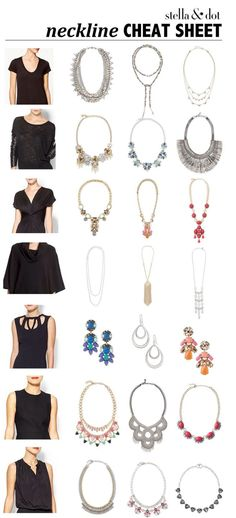 A little help for choosing the right necklace for your neckline by Stella and Dot.