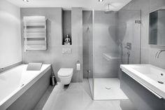 Love the grey tile but less of it:) Witte badkamer + grijze huis = perfecte combinatie Bathroom Kids, Bathroom Renos, Bathroom Inspo, Bathroom Inspiration, Small Bathroom, Bathroom Things, Family Bathroom, Bathroom Design Tool, Bathroom Layout