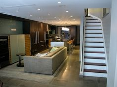 contemporary basement by Chelsea Atelier Architect, PC