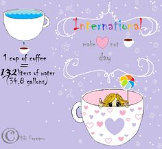 In this article you'll find details about the International Caffeine Awareness Month and some funny example of unusual holidays people around the world happen to celebrate. Unusual Holidays, International Holidays, People Around The World, My Drawings, Coffee Cups, Valentines, Shit Happens, Caffeine, How To Make