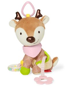 Buy Bandana Buddies - Deer Activity Toy online and save! Skip Hop: Bandana Buddies – Deer Activity Toy A soft toy and teether toy filled with textures, patterns and sounds! Little hands stay active as baby . Bandana, Baby Girl Toys, Colorful Animals, Activity Toys, Baby Hands, Teething Toys, Cute Toys, Infant Activities, Toddler Toys