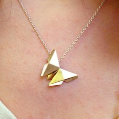 Origami Butterfly Necklace