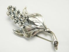 Swedish Modernist Sterling Flower Brooch by GrandVintageFinery, $89.95
