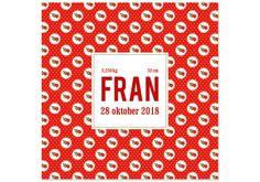 Geboortekaartje Fran -Kaartjes en Co