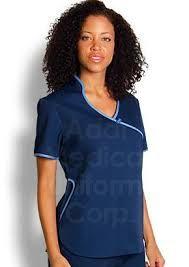 Adar Women Asian Style Contrast Trim Nurse Scrubs Item view details - Uniform ท่าเรือ - Women in Uniform Cheap Scrubs, Housekeeping Uniform, Accelerated Nursing Programs, Scrubs Outfit, Importance Of Time Management, Medical Uniforms, Nursing Uniforms, Asian Style, Scrubs Uniform