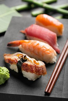Vadim Goodwill Poster featuring the photograph Traditional Japanese Sushi 2 by… Sushi Recipes, Healthy Recipes, Salad Recipes, Vegetarian Recipes, Oshi Sushi, Sushi Comida, Cute Food, Yummy Food, Dessert Chef