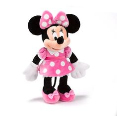 Official Disney Minnie Mouse Pink White Polka Dots Small Plush Soft Toy  #Disney