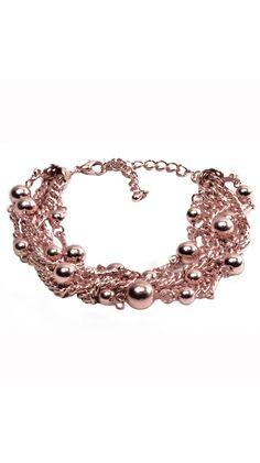 Boho Bracelet in Rose Gold.