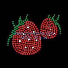Strawberry Rhinestone Transfer For Garment