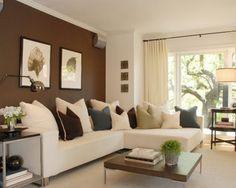 12 Salas Modernas con Paredes Color Marrón