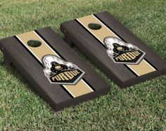 Purdue University Black Stained Cornhole Boards 🌻More Pins Like This At FOSTERGINGER @ Pinterest 🦋