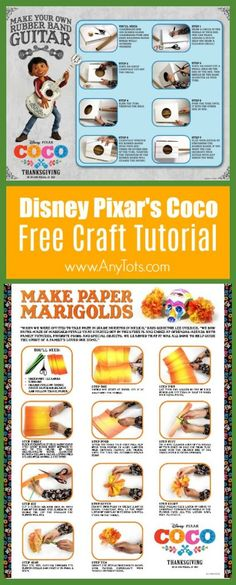 22 pages of free Disney pixar's Coco coloring pages & activity sheets. Free Printable Coco Coloring Pages, Coco Free Printable Maze, Coco Movie Crafts, Coco Guitar Craft Tutorial, Coco Party Food, Coco Party Decorations, and more Free Coco Activity Sheets. www.anytots.com for more party ideas and free printable.