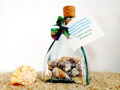 Keepsake bottle favor