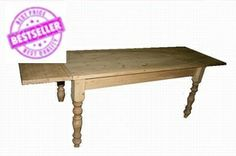 Hand made pine extending table