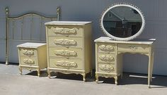 Someday my Little Miss will have a darling French Provincial bedroom set.