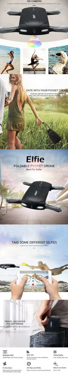 Elfie Selfie Drone  Smartphone WiFi Remote Control - control your drone with wifi connection to your phone will receive real-time transmission from the camera on the drone! The pictures and video store in your phone   release the throttle stick after usin