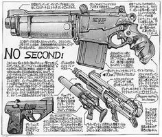 Dragon-Fire and Savage Swords Sci Fi Weapons, Weapon Concept Art, Fantasy Weapons, Weapons Guns, Akira, Rude Mechanicals, Masamune Shirow, Gun Art, Apple Seeds