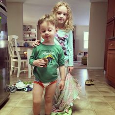 """Involving a bigger sibling in potty training can really help your little one! Here are a list of """"jobs"""" I gave my daughter when #pottytraining our son."""