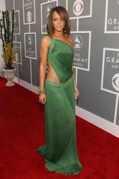 In Roberto Cavalli at the 49th Annual Grammy Awards. See all of Rihanna's best looks.