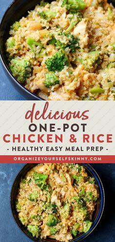 Easy Healthy Meal Prep, Healthy Chicken Dinner, Healthy Family Meals, Easy Healthy Recipes, Easy Meals, Healthy Eating, Dinner Healthy, Meal Prep With Chicken, Healthy Broccoli Recipes