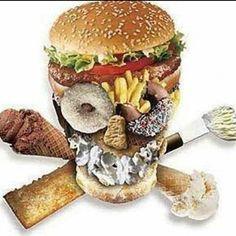 """Você já parou pra pensar que o alimento que estas comendo vai formar sua pele seus ossos vai ser seu sangue vai influenciar seus pensamentos e emoções?  Você é aquilo que você absorve!! E o que será que tem de bom pra ser absorvido nesses tipos de alimentos? E pior mesmo que houvesse algo dificilmente seria bem absorvido tamanha a dificuldade que esses """"ETs""""  criam ao nosso sistema digestivo!  Então como você quer ser e estar?  Pense nisso quando estiver irritada com TPM celulite enxaqueca…"""