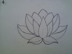 lotus drawing is the exact shape I want for my lotus tattoo. I love the complexity and the fullness in the petals as a line drawing. It's been hard finding a lotus with vertical symmetry. This with an om in the front center petal would be perfect. Flower Drawing Tumblr, Lotus Drawing, Drawing Flowers, Lotus Flower Paintings, Lotus Flower Drawings, Tattoo On, Tattoo Drawings, Tattoo Neck, Lotus Outline