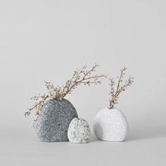Crafted in Maine, these hand drilled vases are made from stones collected on riverbanks and beaches in coastal New England. Find them only at Bloomist.
