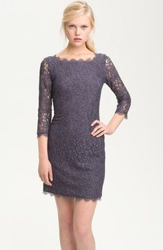 Diane von Furstenberg 'Zarita' Lace Sheath Dress | Nordstrom. Rehearsal dinner?