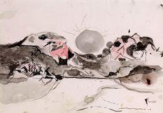 Graham Sutherland show at Modern Art Oxford, UK<br /> Landscape Sketch, Landscape Drawings, Landscape Art, Landscapes, Artist Sketchbook, Wallpaper Magazine, English Artists, Modern Artists, Art Forms