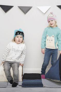 Novita patterns for kids and toys, kitten beanie made with Novita 7 Brothers yarn #novitaknits https://www.novitaknits.com/en