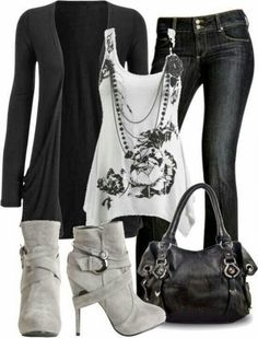 Skinny Jeans High Heels and Sleeveless Dress Click for more