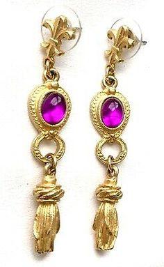 1928 Jewelry Silver-Tone Marcasite Bow Stud Earrings