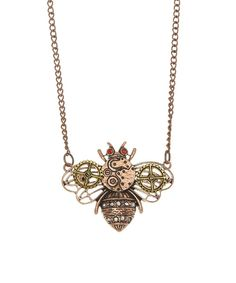 Look what I found on #zulily! Bubbly Bows Bronze-Tone Industrial Bee Pendant Necklace by Bubbly Bows #zulilyfinds
