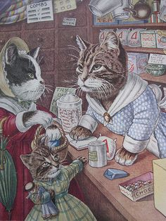 Racey Helps' Shop Cats