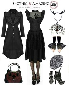 Shop Gothic Clothing on www.blue-raven.com ! #Outfit #Goth #Gothique Maybe something for https://Addgeeks.com ?