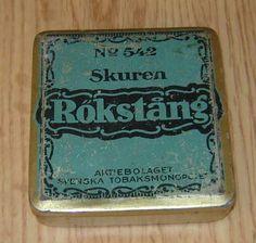 Skuren Rökstång No 542 Svenska Tobaksmonopolet tillverkat i 2 omgångar 1924-1969