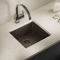 MR Direct Undermount Composite 17-3/4 in. Single Bowl Kitchen Sink in Mocha