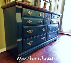 Peacock Tail Behr Painted Dresser