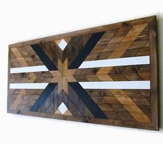 Reclaimed Wood Art Geometric Wood Art Western by LakefrontWoods