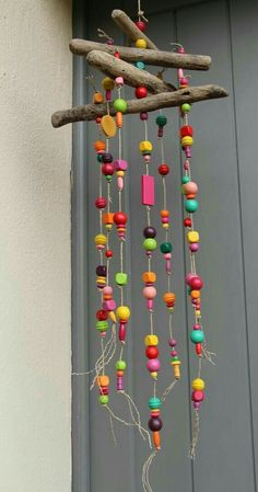 Kids Crafts, Summer Crafts, Crafts To Do, Projects For Kids, Craft Projects, Arts And Crafts, Bead Crafts, Carillons Diy, Diy Wind Chimes